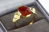 14 Karaat gouden ring met geslepen Carneool - 18,2 mm