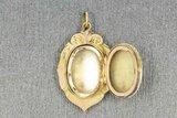 14 Karaat geel gouden Antiek Memory foto kettinghanger