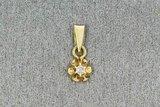 14 Karaat geel gouden Kettinghanger (glijder) met Diamant
