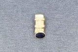 14 Karaat geel gouden kettinghanger met blauwe Saffier