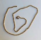 14 karaat geelgouden Fantasie schakelketting - 67,5 cm