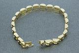 14 karaat geel gouden schakelarmband - 18,5 cm
