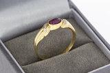 14 Karaat gouden ring met cabochon geslepen Robijn - 19,3