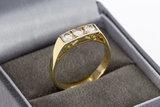 14 Karaat geelgouden Rijring gezet met Diamant - 0.51 crt