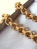 14 Karaat geel gouden Jasseron Slot schakel collier - 46 cm