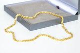 18 Karaat gouden Koningsketting -byzantijns vierkant- 61 cm