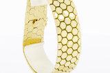 14 Karaat brede geelgouden schakelarmband - 20 cm