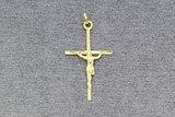 14 Karaat geel gouden kettinghanger - Kruisje -