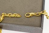14 karaat geelgouden Anker schakelketting - 46 cm