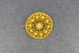 14 Karaat gouden vintage Filigrain Zeeuwse Knop Broche