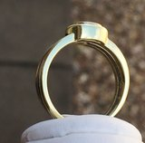 14 Karaat bicolor gouden Solitair ring gezet met Diamant