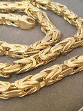 14 Karaat geelgouden Konings- schakelketting - 65 cm