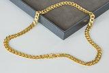 18 K gouden gewalste Gourmet ketting met dubbel eindstuk- 50,5 cm