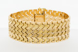 Brede gouden schakel armband- 20 cm