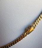 14 karaat geel gouden Gourmet schakel Collier - 42 cm