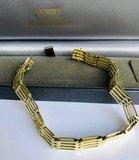 14 K gouden armband met vierkante schakels- 20 cm