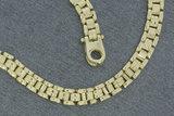 14 karaat geel gouden schakelketting - 45,5 cm