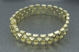 14 karaat geelgouden schakelarmband - 20 cm