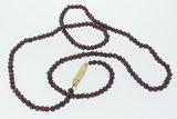 Granaten snoer met 14 karaat gouden sluiting - 82 cm