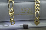 18k bicolor gouden Figaro ketting - 60,5 cm
