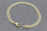 8 karaat (geel) Gourmet schakelarmband - 19 cm