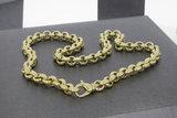 Gouden Jasseron slotcollier- 46 cm