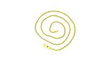 14 karaat geel gouden Vossenstaart ketting - 42 cm