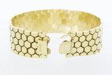Bre14 Karaat brede geelgouden schakelarmband - 20 cmde gouden schakelarmband-20 cm