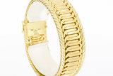 Geel gouden armband met bakslot-19 cm