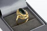 14 karaat gouden vintage ring gezet met Toermalijn - 17,3