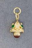 14 Karaat gouden vintage Lampion Bedel  Kettinghanger