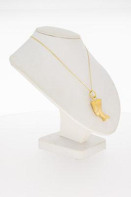 18 Karaat geel gouden Cleopatra kettinghanger