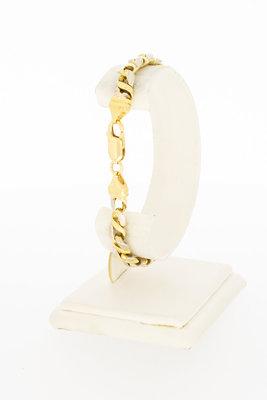 18 Karaat bicolor Fantasie Gourmet schakelarmband - 20,5 cm