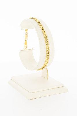 18 Karaat geelgouden Valkoog schakelarmband - 18,9 cm