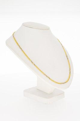18 Karaat gouden gewalste Gourmet schakel Collier - 39,8 cm