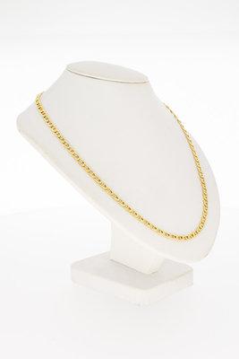 18 Karaat geelgouden Anker schakel Collier - 40 cm