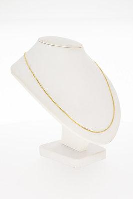 18 Karaat geelgouden Venetiaans schakel Collier - 42,5  cm
