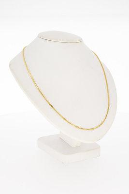 18 Karaat geelgouden Venetiaans schakel Collier - 40,5 cm