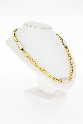 18 Karaat bicolor gouden Magnum Koningsketting - 71 cm