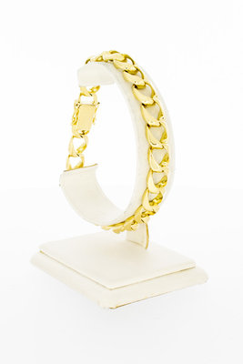 14 Karaat gouden Open Gourmet schakelarmband - 20,2 cm