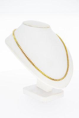 14 Karaat geel gouden Venetiaans schakel Collier - 43 cm