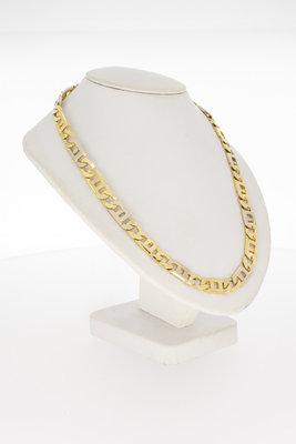 14 Karaat bicolor gouden Rolex schakelketting - 61,2 cm