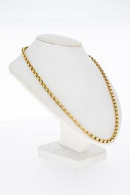14 Karaat geel gouden Anker schakel Collier - 44,5 cm