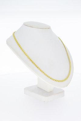 14 Karaat geel gouden antieke gevlochten ketting - 62 cm