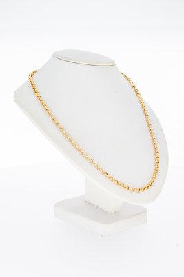 14 Karaat ros' gouden Anker schakelketting - 65 cm