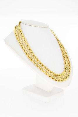 """18 Karaat geel gouden """" Versace style """" Collier - 42,3 cm"""
