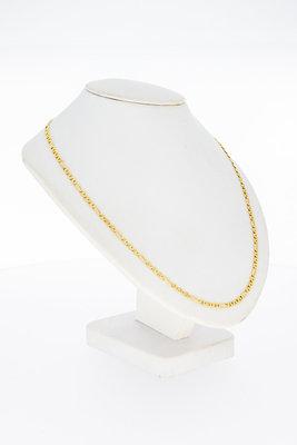14 Karaat geel gouden Anker schakelketting - 46,5 cm