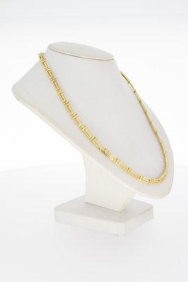 """14 Karaat gouden """" VERSACE Style """" schakel Collier- 44 cm"""