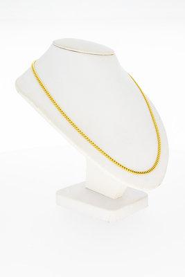 14 Karaat geel gouden Gourmet schakelketting - 60,5 cm