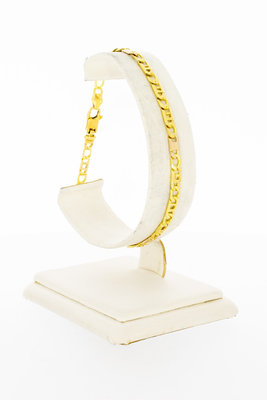 18 Karaat bicolor gouden Rolex schakelarmband - 20,5 cm